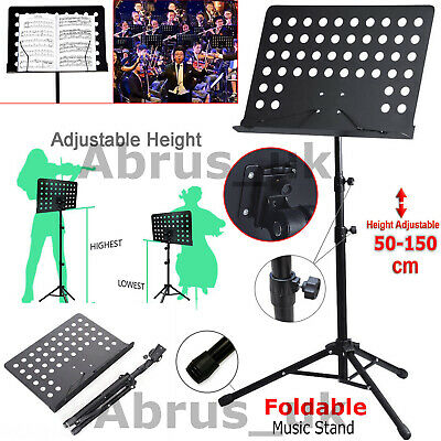 Heavy Duty Foldable Orchestral Music Stand Conductor Sheet Tripod Base Holder UK • 12.75£