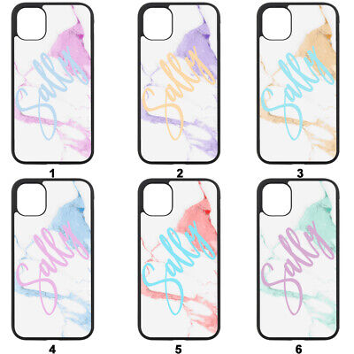 AU11.50 • Buy Personalised Phone Case Hard Cover For Apple IPhone -Funky Pastel Marble + Name