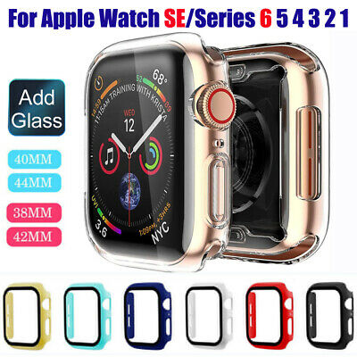 $ CDN4.03 • Buy For Apple Watch SE Series 6 5 4 3 2 1 44mm 40mm Case Cover Tempered Glass Film
