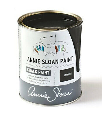 Annie Sloan Paint 1 X Large Litre Tin Of Graphite Paint Dark Grey Nearly Black • 37.50£