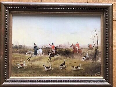 Philip Henry Rideout (1850-1920) Oil On Board Painting Hunting / Coaching Artist • 129.99£