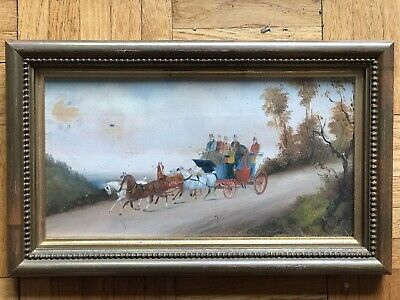 Philip Henry Rideout (1850~1920) Oil On Board Painting Hunting / Coaching Artist • 129.99£