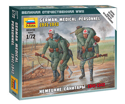 Zvezda 1/72 Figures German Medical Personnel 1941 - 1943 Z6143 • 4.95£
