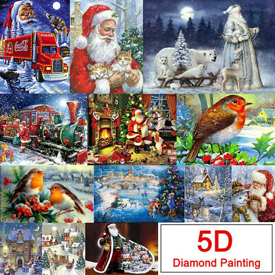 5D Full Drill DIY Xmas Diamond Painting Art Home Decor Embroidery Kits Crafts • 4.59£
