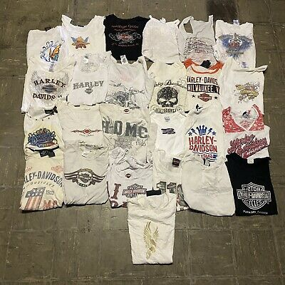 $ CDN300.01 • Buy Vintage Harley Davidson Wholesale Women T Shirt 25 Lot Graphic Bundle 00s