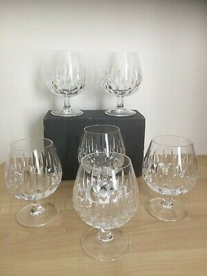 6 X Royal Doulton Crystal Brandy Balloon Glasses - Height 5 Inches • 37.50£