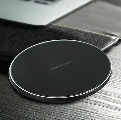 $ CDN12.52 • Buy QI Univer Wireless Fast Charger 10W For IPhone XS/R/Max/8 Galaxy Note 9/S9 BK A6