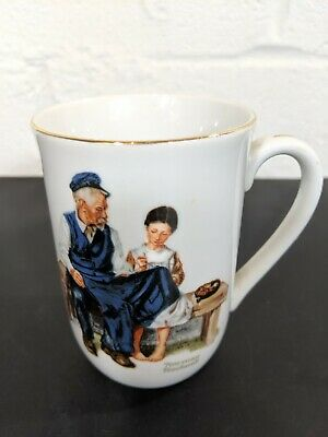 $ CDN3.94 • Buy Vintage Norman Rockwell Lighthouse Keeper Daughter Coffee Tea Mug