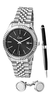 Mens Quartz Watch With  Dial Analogue Display And Silver Alloy Bracelet • 35.01£