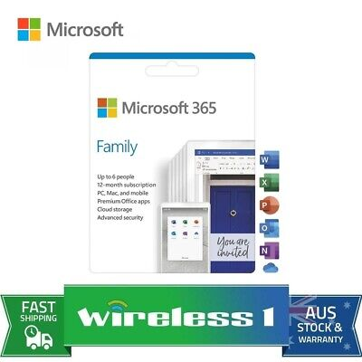 AU125 • Buy Microsoft 6GQ-01143 Office 365 Family 1 Year Subscription