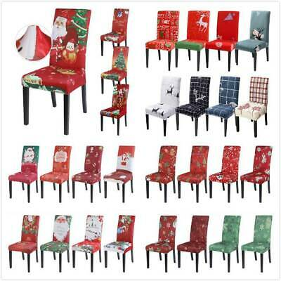 Dining Chair Cover Kitchen Slipcovers Christmas Party Banquet Xmas Seat Cover H • 3.99£