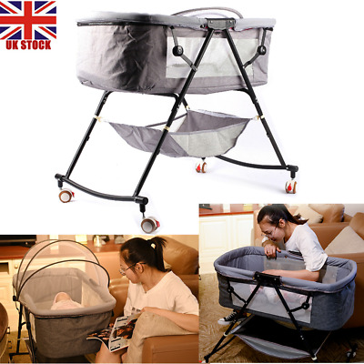 Baby Bedside Crib Portable Foldable Cradle Cot Bed • 65.86£