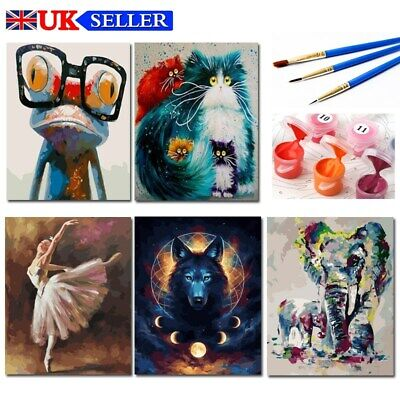 UK Oil Acrylic Painting Kit Paint By Numbers Adult Children Beginners Frameless • 7.73£