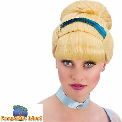 Blonde Sweet Cinders Cinderella Wig Fairytale Adult Womens Fancy Dress Costume • 9.49£