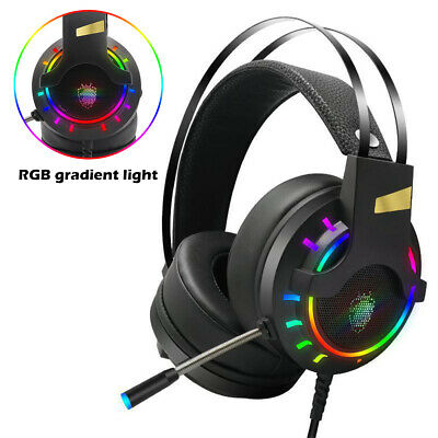 £13.59 • Buy Gaming Headset LED Headphones USB Wired For PC Laptop PS4 Xbox One Computer