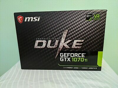 $ CDN426.07 • Buy MSI GeForce GTX 1070 Ti DUKE 8gb With Box And EKWB Waterblock