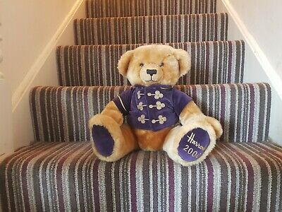 Harrods Teddy Bear Year 2000 Millennium Collectable Plush  • 9£