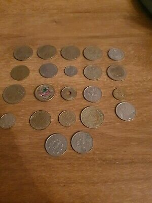 Mixed Lot Foreign Coins And English Pence • 3.99£