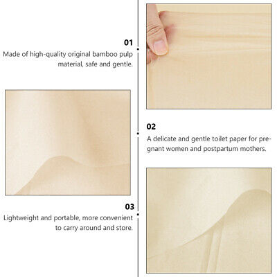 AU18.76 • Buy 1 Box 4Pcs Toilet Paper Chic Safe Bamboo Pregnant Woman Cleaning Tool Tissue