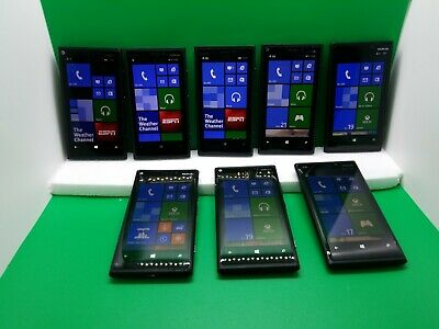 $ CDN69.22 • Buy Lot Of 8 Nokia Lumia 920 - Black (AT&T) Smartphone Windows 8.1 Carl Zeiss