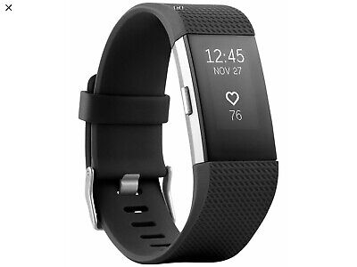 $ CDN21.40 • Buy Fitbit Charge 2 Heart Rate + Fitness Wristband, Black, Med + Large Bands