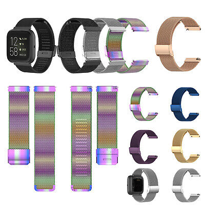$ CDN19.08 • Buy For Fitbit Versa2 / Versa / Versa Lite Watch Metal Wristwatch Band Watch Strap
