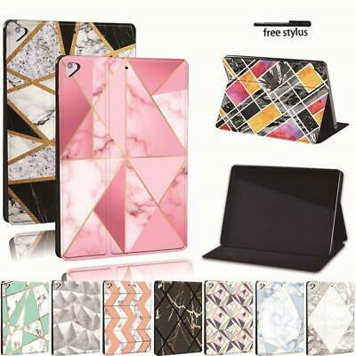 Geometric Leather Stand Cover Case For Apple IPad 8 10.2  2020 (8th Generation) • 8.99£