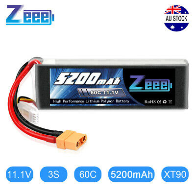 AU47.99 • Buy Zeee 5200mAh 60C 11.1V 3S XT90 LiPo Battery For RC Helicopter Car Truck Airplane