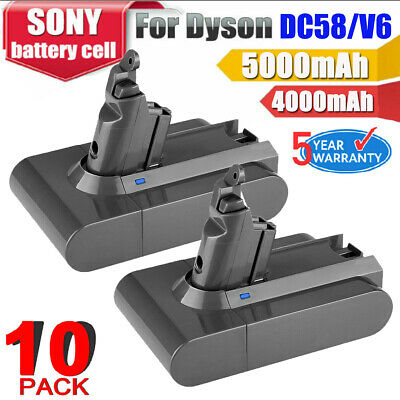 AU35.99 • Buy 10XDC58 5.0Ah Battery For Dyson Absolute V6 DC59 DC61 DC62 D72 DC74 BC683 Animal
