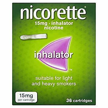 Nicorette Inhalators & 72 Cartridges(15mg) FREE P&P  Recorded Delivery 1st-Class • 53£