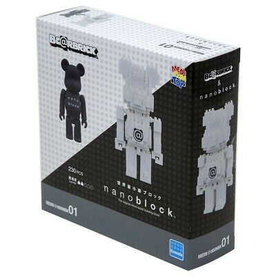 $54.99 • Buy Be@rbrick X Nanoblock 100% Bearbrick Toy Figure And Building Set IN HAND