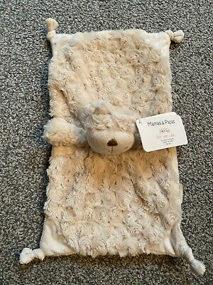 Mamas And Papas Crumble Teddy Bear Comfort Blanket Soft Toy Baby Comforter M&P • 27.99£