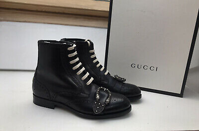 """GUCCI Black Buckle """"Queercore"""" Boots Size UK 7  £1'120 -BRAND NEW - Unisex • 799£"""