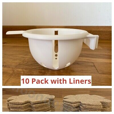 10x 12.5cm Large Canary Nest Pans & Jute Liners For Cage Canaries, Small Birds • 15.95£