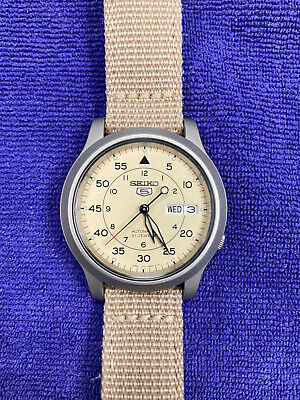 $ CDN62.67 • Buy Seiko 5 MILITARY Automatic Day Date Watch Beige SNK803