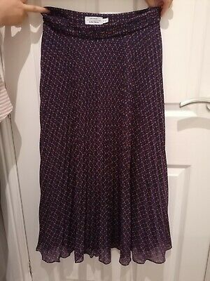 & Other Stories Polka Dot Midi Skirt Size 38 10/12 Dark Purple New Without Tag • 12£
