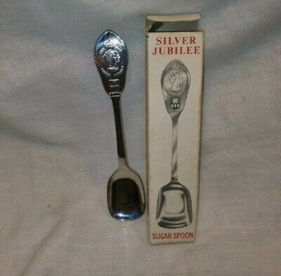 Vintage Silver Jubilee HRH ER Sugar Spoon Stainless Steel In Great Condition  • 7£