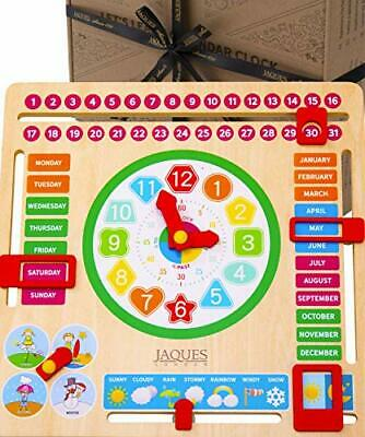 Jaques Of London Wooden Toys My First Calendar For Kids With Learning Clock – • 19.99£