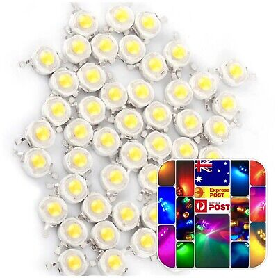 AU7 • Buy 20 Pieces 1W LED High Power SMD LED 28mil Lights Beads Cool White LED Diode