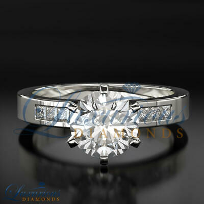 $ CDN5624.75 • Buy Wedding Diamond Ring D SI2 Round Cut 2.05 Carat Solitaire With Accents