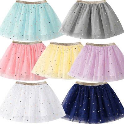 Lovely Baby Girls Casual Princess Stars Sequins Party Dance Ballet Tutu Skirts • 6.99£