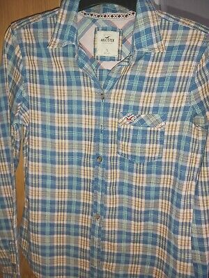 Ladies Hollister Cotton Checked Shirt Size Small Good Condition  • 1£