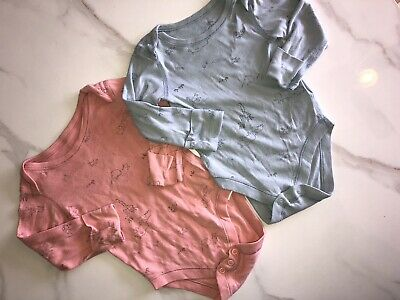 Baby Girls M&S Long Sleeve Vests X2 3-6 Months  • 0.99£