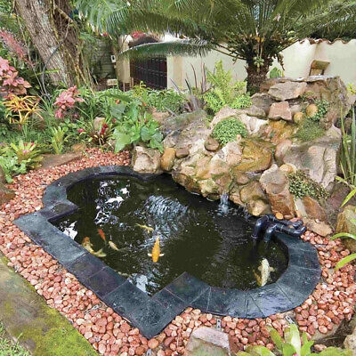Pond Waterfall Garden Water Feature Water Stream Fish Pool Membrane Landscaping • 14.95£