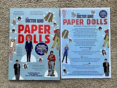 DOCTOR WHO Paper Dolls Book PROMO W/Sheet New • 7.99£