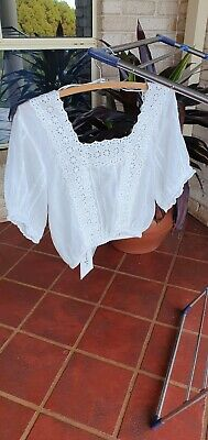 AU75 • Buy Arnhem Top, White Poeme Top Size 8, Organic Cotton. Purchased For $120.00