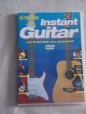 Yamaha Instant Guitar For Electric And Acoustic Dvd [2005] Excellent Condition • 2£