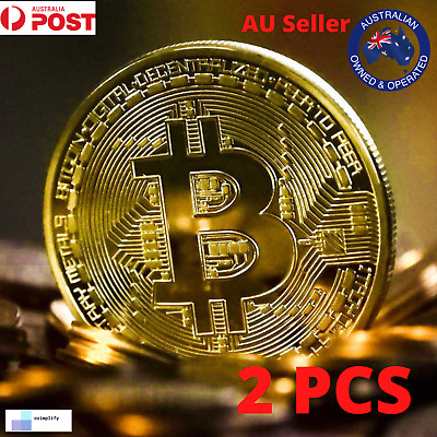 AU5.98 • Buy Gold Plated Bitcoin Coin Collectible Gift BTC Coin Art Collection Physical Bw