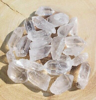 £9.99 • Buy Natural Clear Quartz Crystal Points Rough Raw Mineral Stone Healing Chakra Reiki