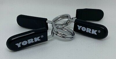 $ CDN26.35 • Buy 2 York Barbell Spring Lock Clamp Collar Clips Clamps For Gym Weight Dumbbell